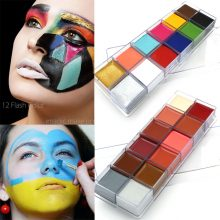 12 Colors Face and Body Paints Set