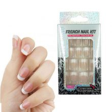 Set Fashion French Nail Tips with Glue